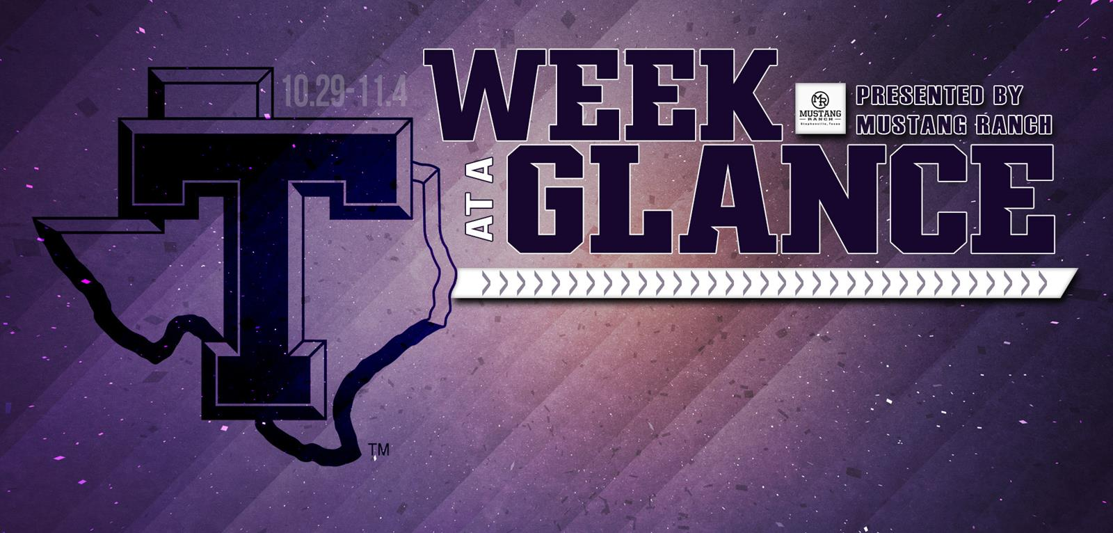 8394a0384c4 WEEK AT A GLANCE: Full schedule of athletics on deck for Tarleton including  start of basketball, cross country looking to add more LSC titles, home  football
